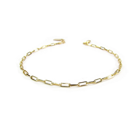 Rectangle Link Anklet