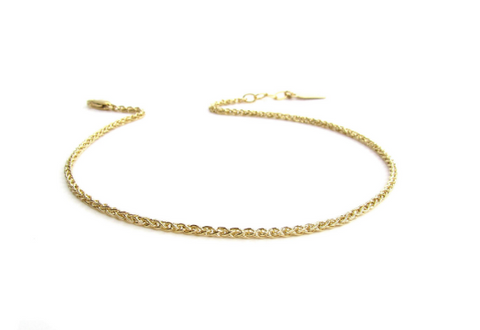 Woven Chain Layering Anklet