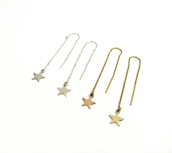 Starry Night Threader Earrings