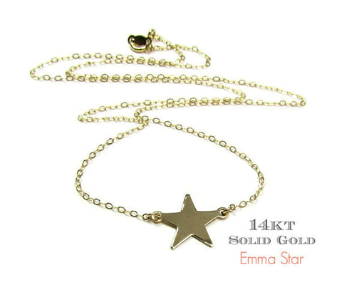14KT Gold Star Necklace