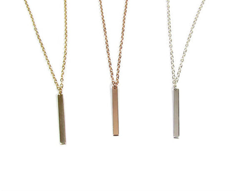 Minimal Vertical Bar Necklace