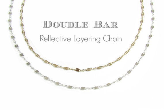 Fancy Double Bar Layering Chain
