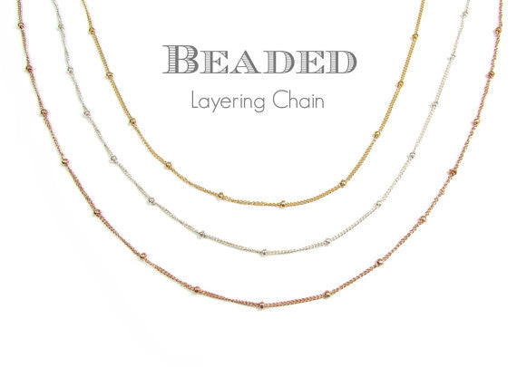 Beaded Layering Chain Necklace