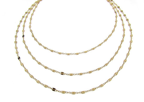 Triple Strand Layering Necklace