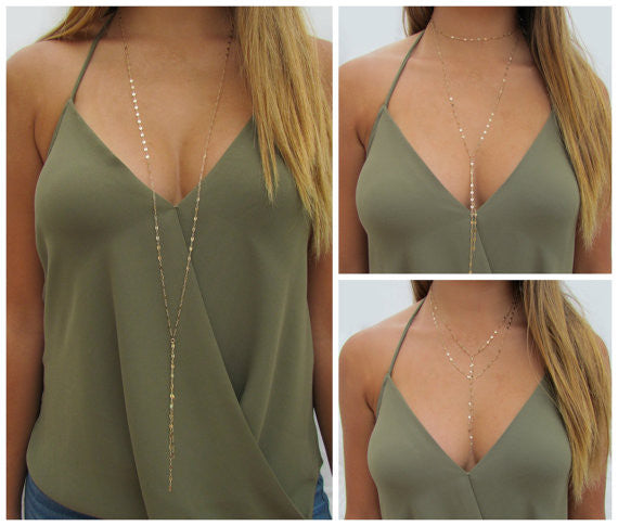 Wrap Lariat Necklace - Wear 11 ways