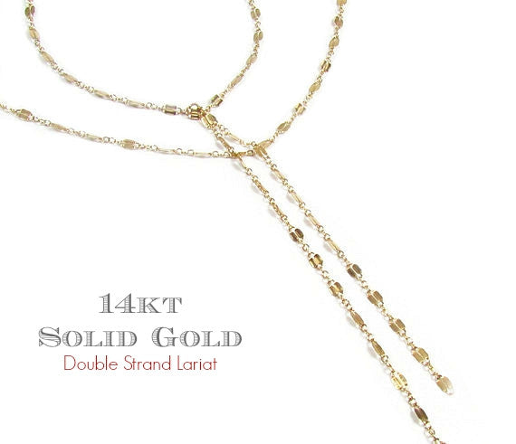 Double Strand Lariat Necklace