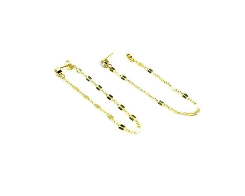 Front to Back Lace Chain Earrings • 14k Solid Gold, Gold Filled or Sterling