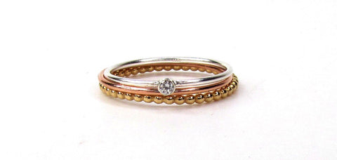 Mixed Metal Stack Rings- Set of 3 Stackable Rings