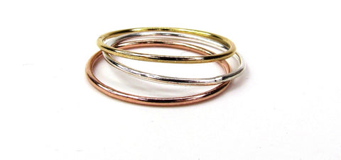 Polished Stack Rings
