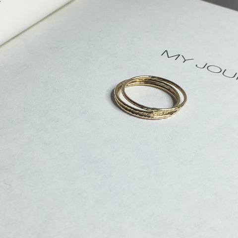 Read Between the Lines Stack Ring