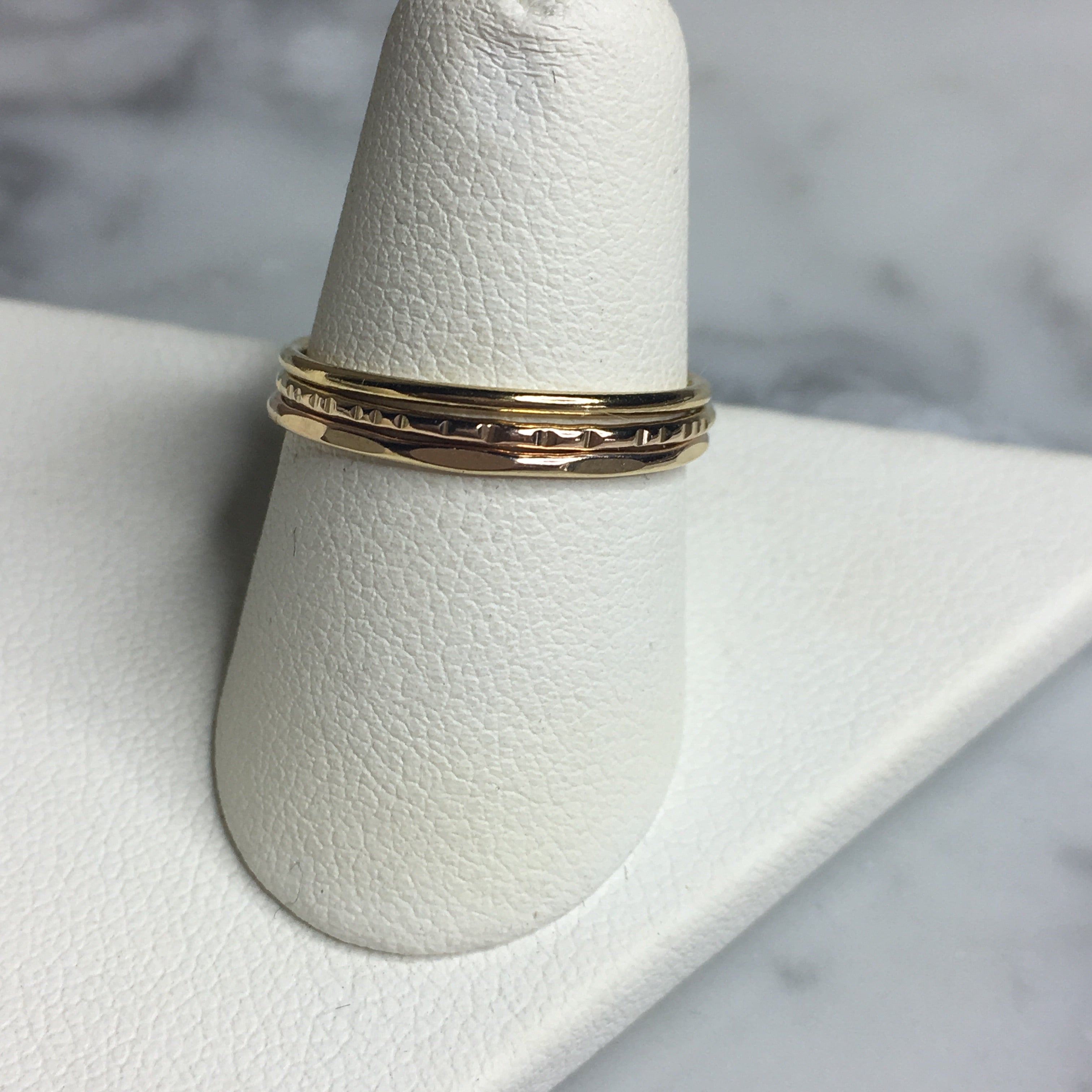 Three's the Charm Ring Stack