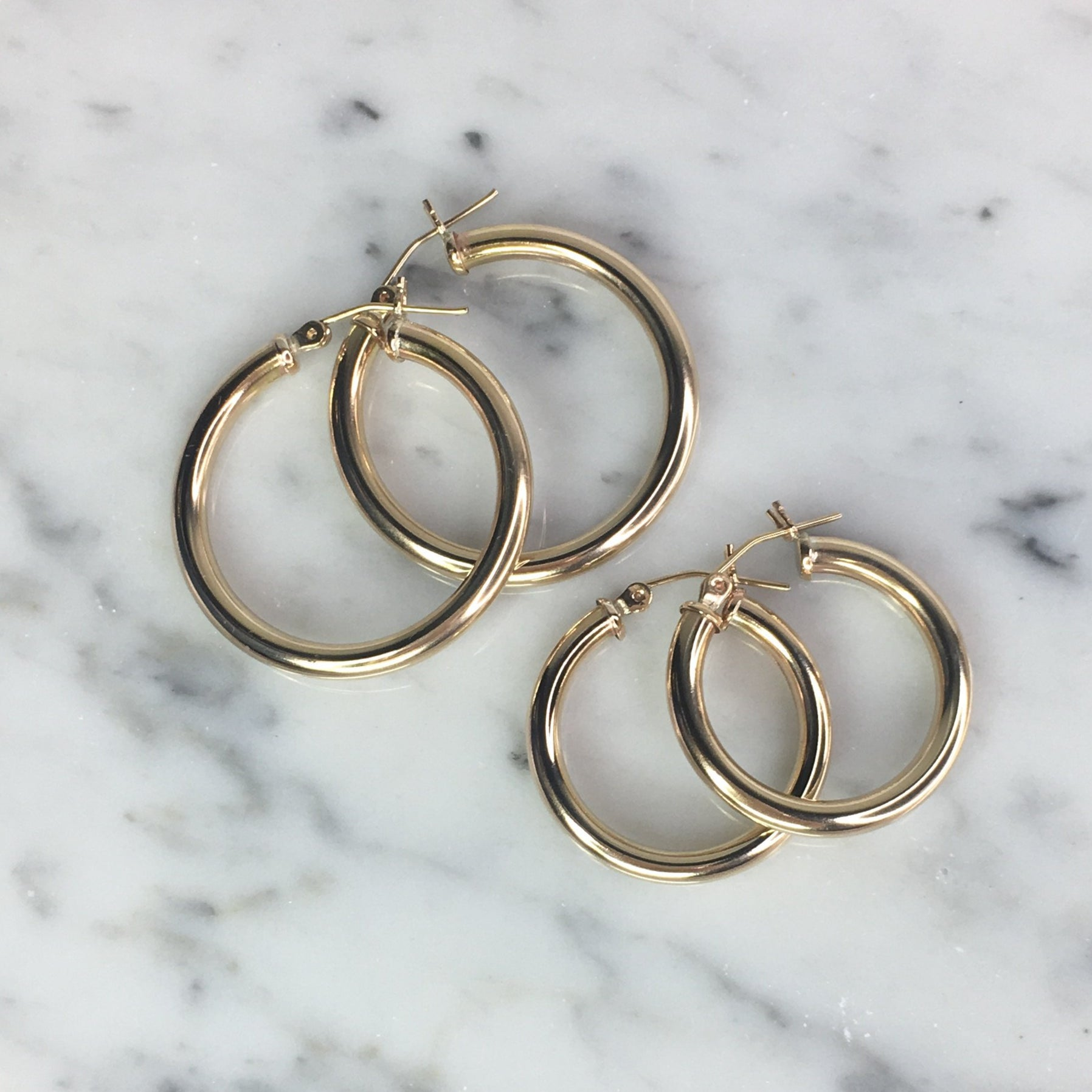 Chunky Hoop Earrings- Gold Filled