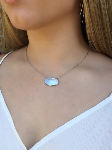 Mother Of Pearl Gemstone Necklace