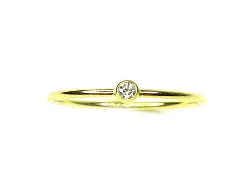 14KT Yellow Gold CZ Band Stack Ring