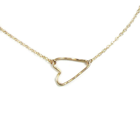Sideways Heart Necklace
