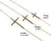 Sideways Cross Necklace - Kelly Ripa