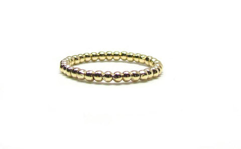 Polished Beaded Band Ring
