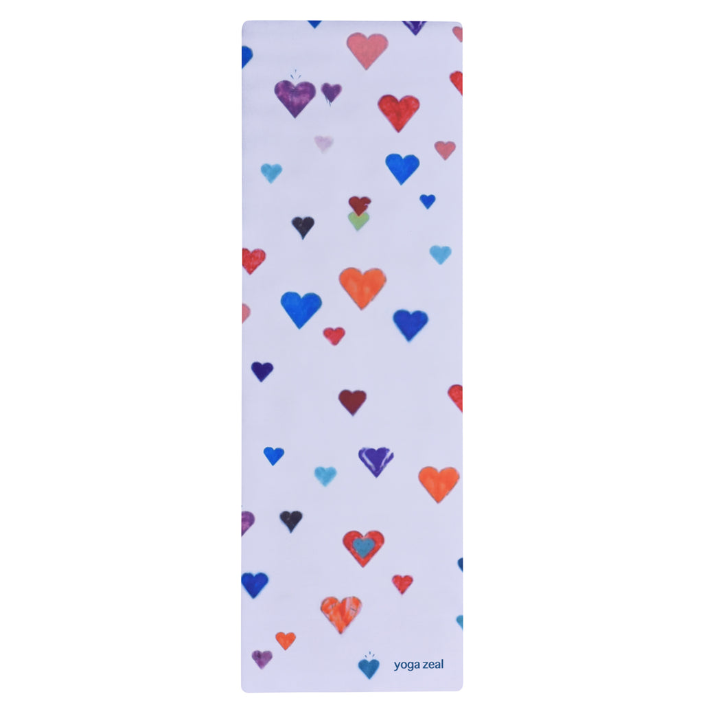 Hearts Mat (White)