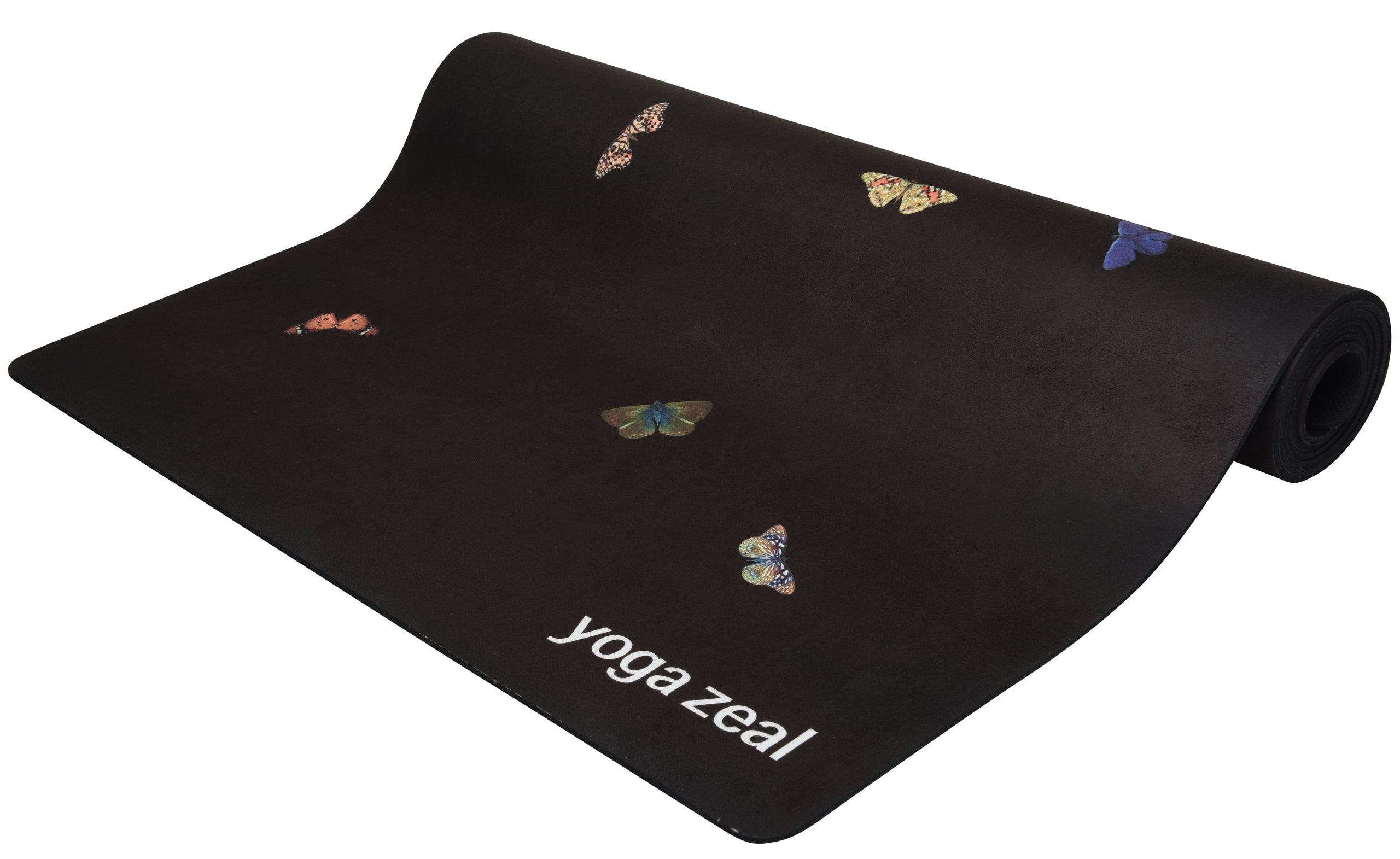 Buttefly Yoga Mat (Black)