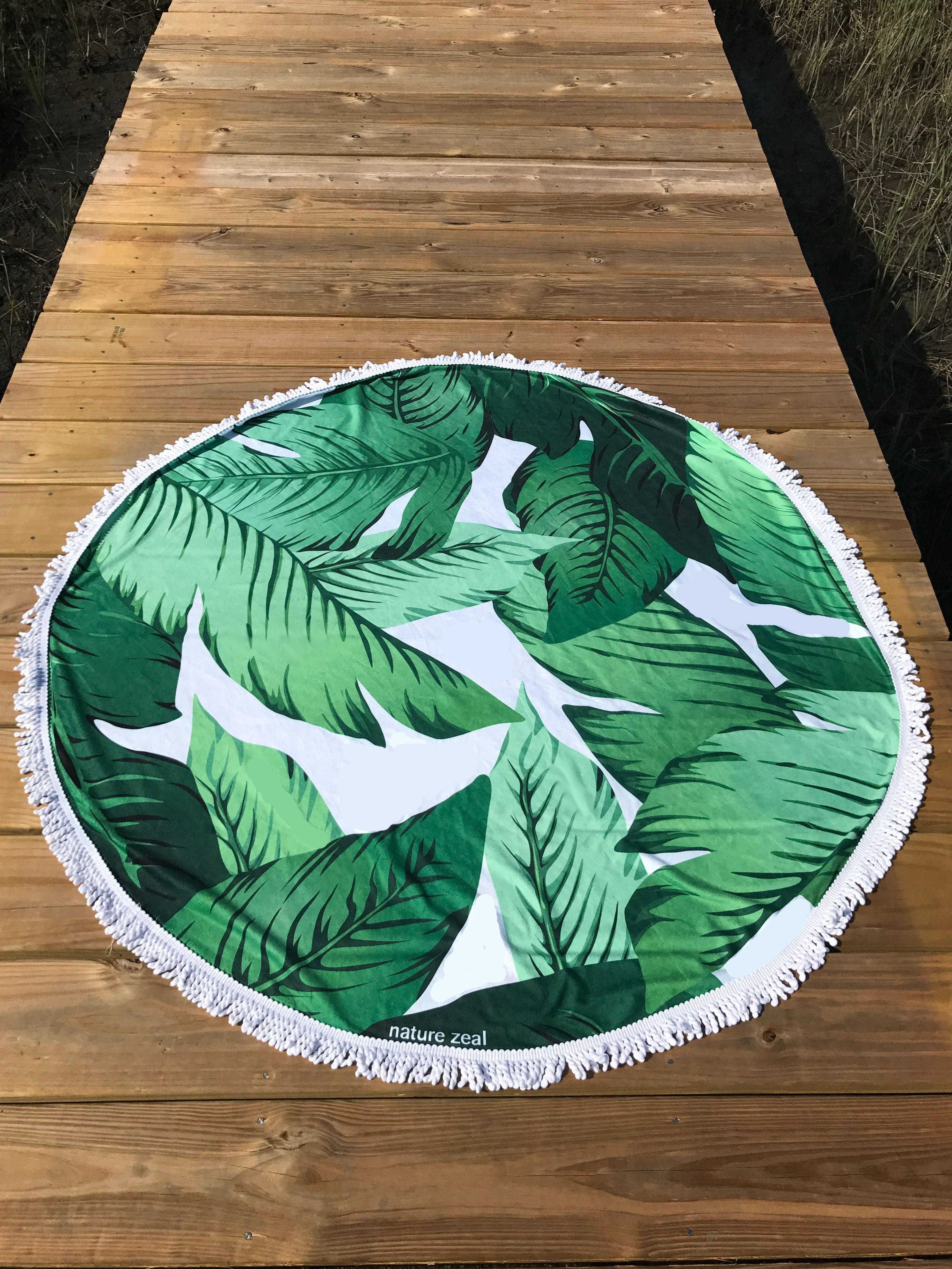 Banana Leaf Round Beach Towel