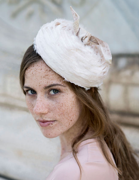 Frayed Silk Beret