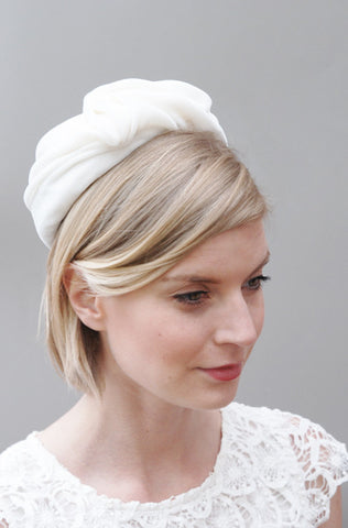 Amelia Silk Velvet Bridal Pillbox