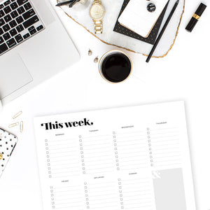 Modern Weekly Planner Printable by TumbleweedPress.Co