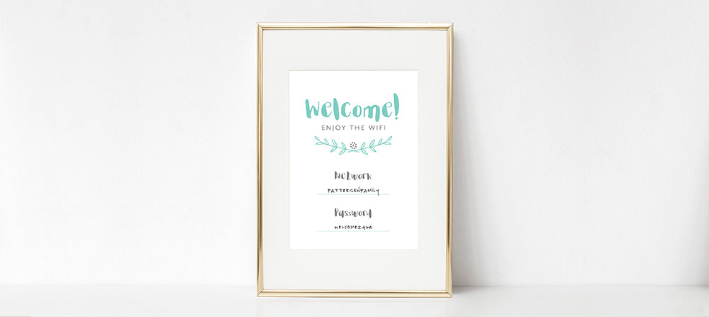 Guest WiFi Printable