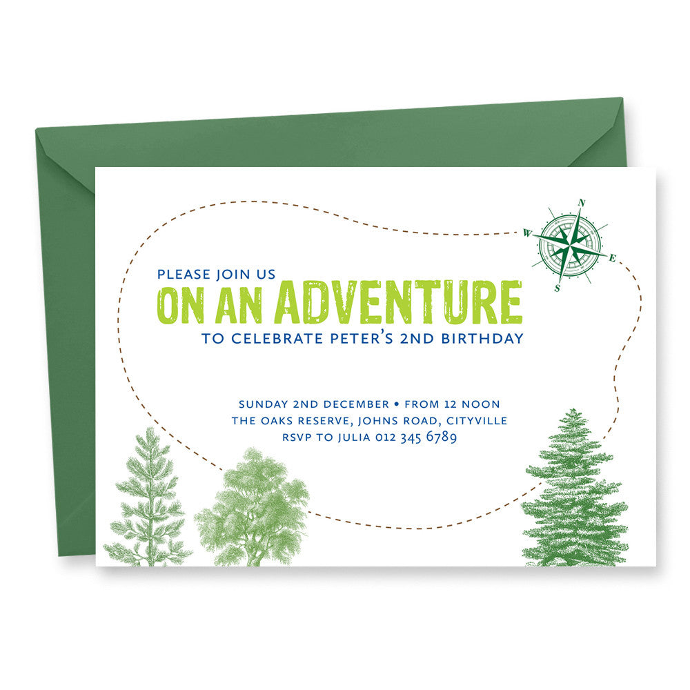 Adventure Birthday Invitation