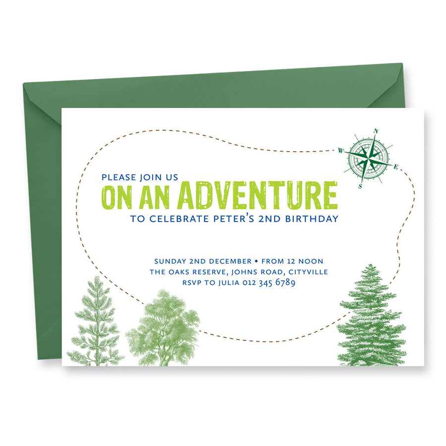 Birthday Invitation: Adventure