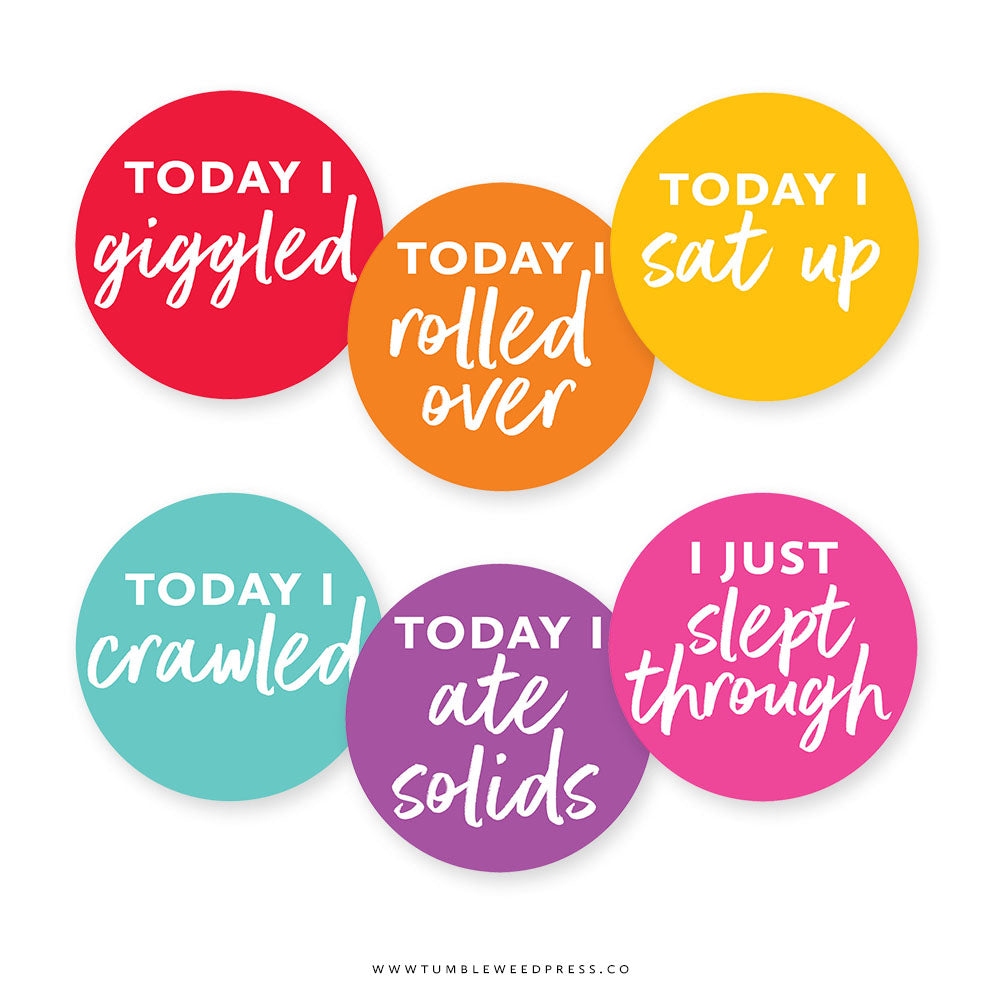 Baby Milestone Stickers: Sunrise