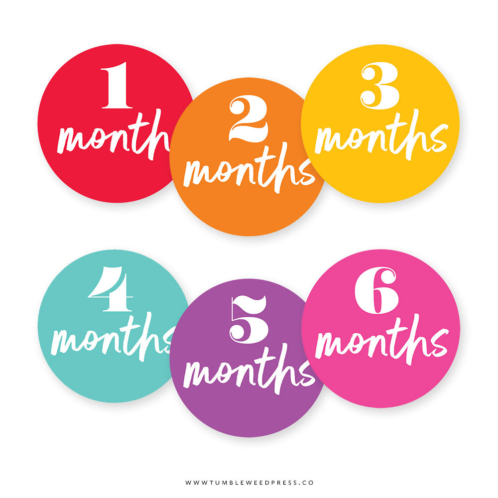 Baby Month Stickers: Sunrise