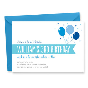 Balloons Birthday Invitation