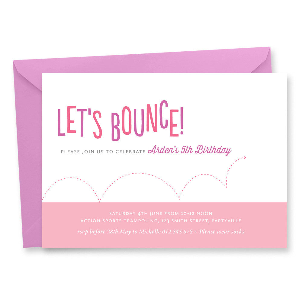 Let's Bounce Birthday Invitation