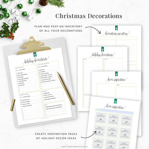 Christmas Decorations Inventory Planner Printable