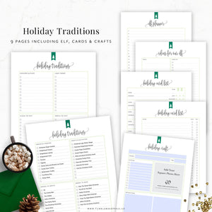 Holiday Traditions Planner Printable Binder Kit