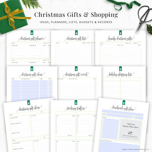 Christmas Gift Planner Printable Binder Kit