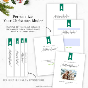 Christmas Planner Printable Binder Kit Covers