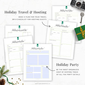 Christmas Travel and Hosting Planner Printable