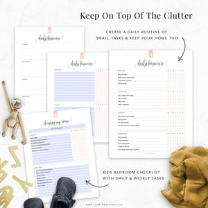 Cleaning Checklists Binder Printable Kit