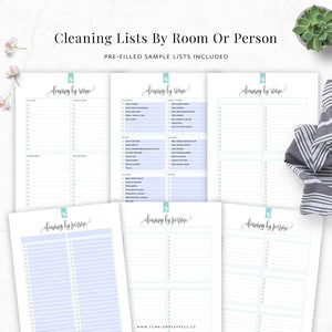 Cleaning Lists Printable
