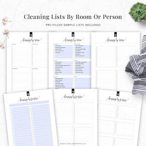 Cleaning Binder Printable Kit