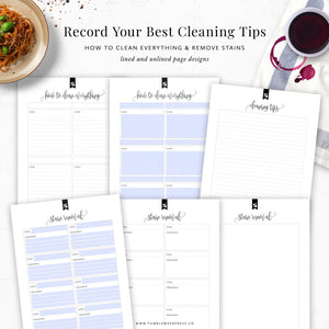 Stain Removal Cleaning Printable