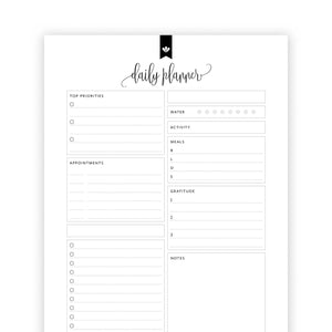 Daily Planner Checklist 02: Kelly