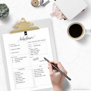 Daily Planner Checklist 01: Kelly