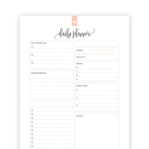 Daily Planner Checklist 02: Taylor