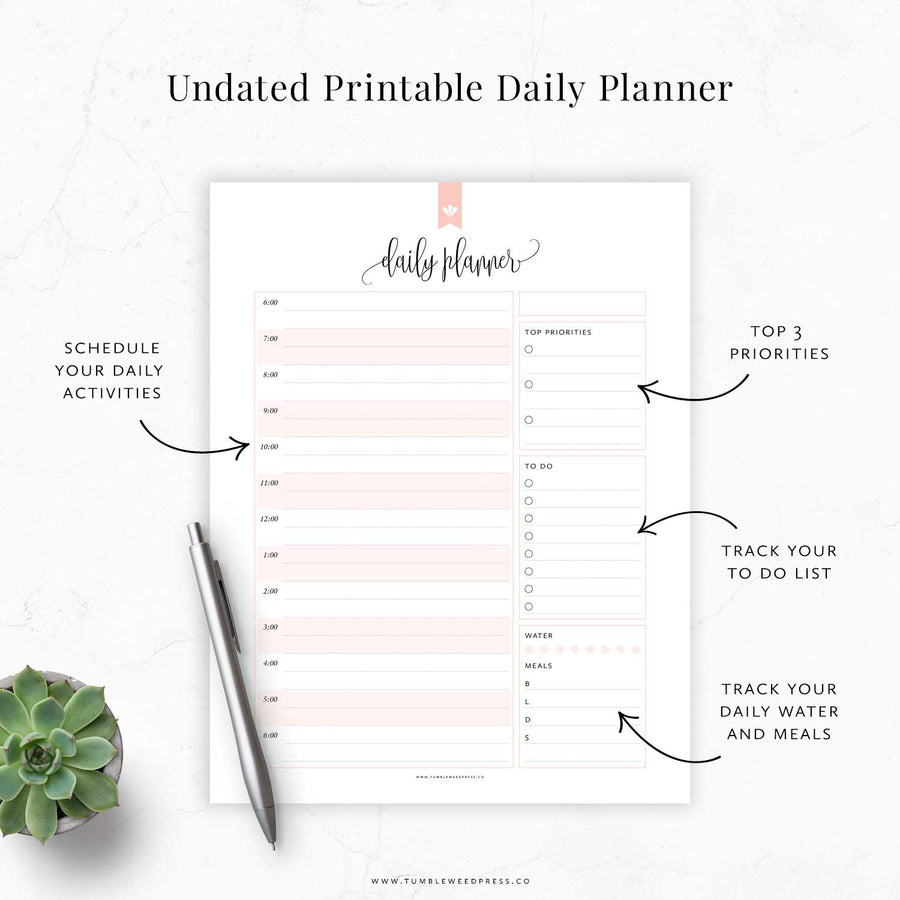 Daily Planner Schedule 02: Taylor