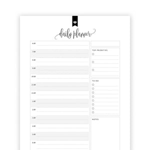 Daily Planner Schedule 01: Kelly