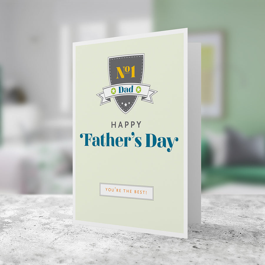 Father's Day Greeting Card: Shield