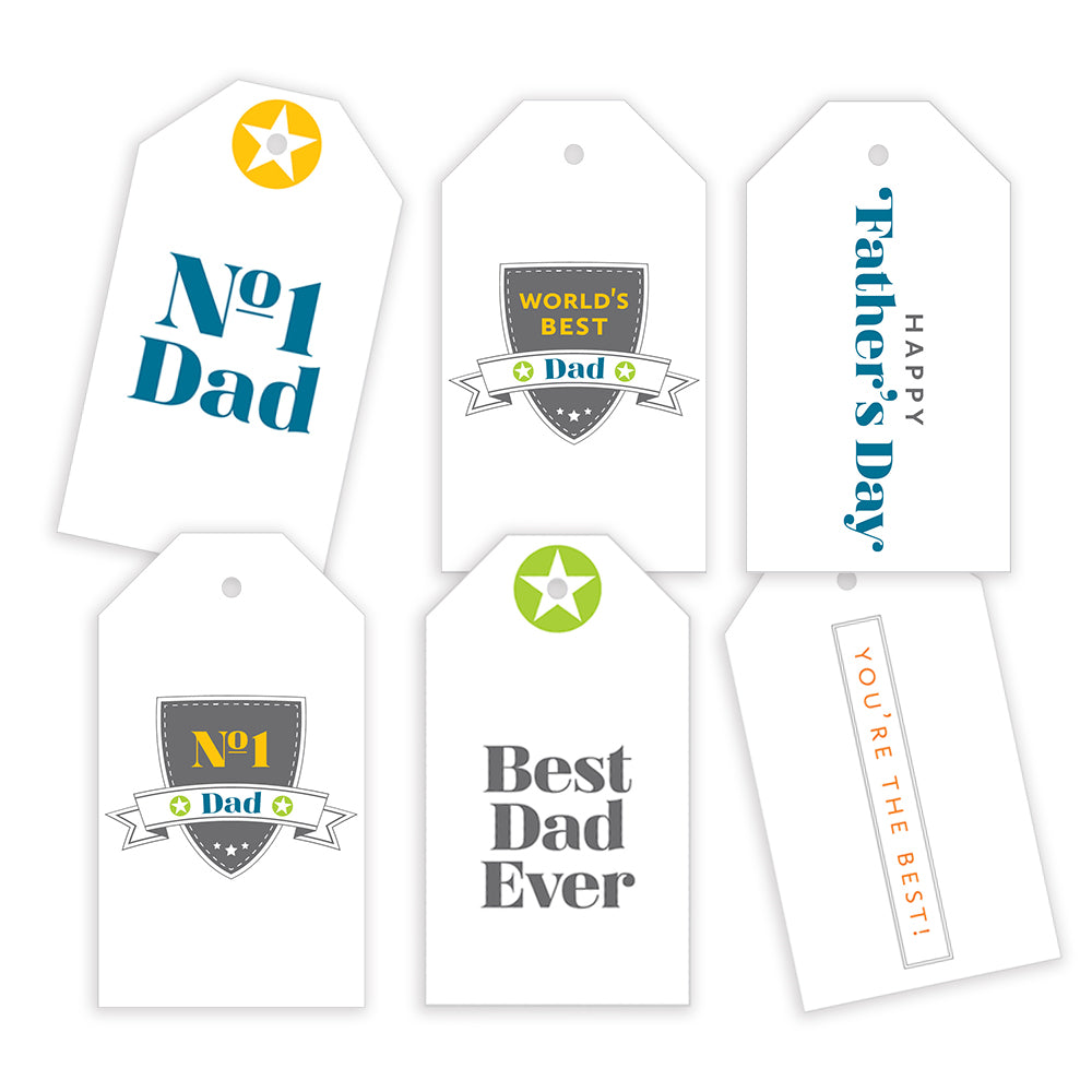 Father's Day Gift Tags: Shield